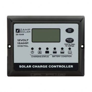 Zamp Solar 15 AMP 5 STAGE DIGITAL PWM CONTROLLER WITH DISPLAY